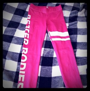 Better bodies pink leggings small
